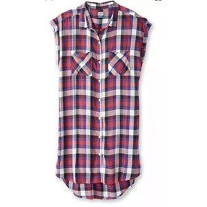⭐5 for $20⭐ Kavu red plaid shirt dress